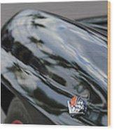 1967 Chevrolet Corvette Fender Emblem Wood Print