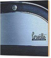 1967 Chevrolet Corvette Glove Box Emblem Wood Print by Jill Reger