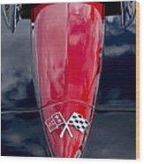 1967 Chevrolet Corvette Hood Emblem 5 Wood Print