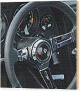 1967 Chevrolet Corvette Steering Wheel Wood Print