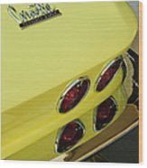 1967 Chevrolet Corvette Taillight Wood Print
