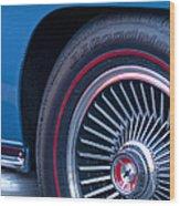 1967 Chevrolet Corvette Wheel 2 Wood Print