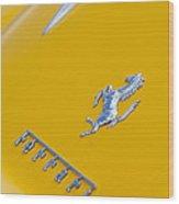 1967 Ferrari 275 Gtb4 Emblem 3 Wood Print
