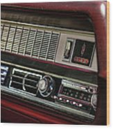 1967 Oldsmobile Cutlass 4-4-2 Dashboard Wood Print