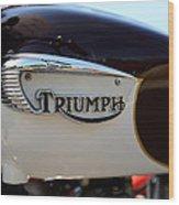 1967 Triumph Bonneville Gas Tank 1 Wood Print