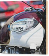 1967 Triumph Gas Tank 3 Wood Print