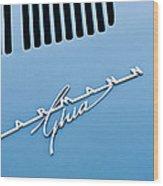 1967 Volkswagen Vw Karmann Ghia Emblem 4 Wood Print