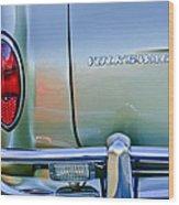 1967 Volkswagen Vw Karmann Ghia Taillight Emblem Wood Print