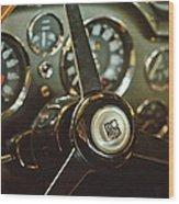 1968 Aston Martin Db6 Steering Wheel Emblem Wood Print