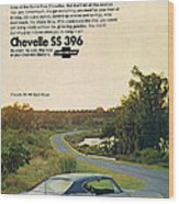 1968 Chevrolet Chevelle Ss 396 - It'd Be A Big Mover On Looks Alone. Wood Print
