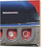 1968 Chevrolet Impala Ss Taillight Emblem Wood Print