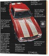 1968 Chevrolet Z/28 Camaro  Wood Print