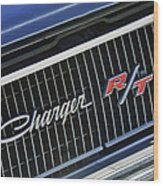 1968 Dodge Charger Rt Coupe 426 Hemi Upgrade Grille Emblem Wood Print