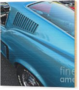 1968 Ford Mustang Fastback  Profile Wood Print