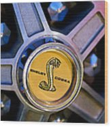 1968 Ford Shelby Gt500 Kr Convertible Wheel Emblem Wood Print