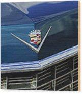 1969 Cadillac Hood Emblem Wood Print