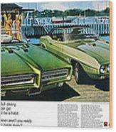 1969 Pontiac Gto And Firebird Wood Print