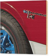 1969 Sc Rambler Wheel Emblem Wood Print