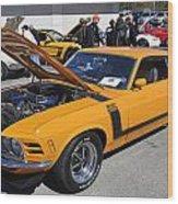 1970 Boss Mustang Wood Print