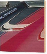 1970 Chevrolet El Camino Ss 454 Ci Hood Emblem Wood Print
