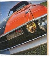 1970 Dodge Challenger Rt Hemi Orange Wood Print