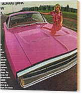 1970 Dodge Charger Tickled Pink Wood Print