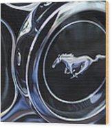 1970 Ford Mustang Gt Mach 1 Wheel Rim Emblem Wood Print