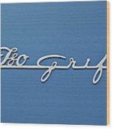 1970 Iso Rivolta Grifo Emblem 3 Wood Print