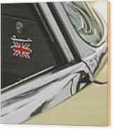 1970 Jaguar Xk Type-e Emblem Wood Print
