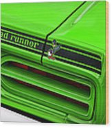 1970 Plymouth Road Runner - Sublime Green Wood Print