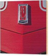 1971 Chevrolet Camaro Hood Emblem Wood Print