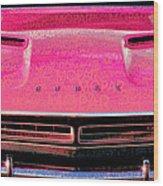 1971 Dodge Challenger - Pink Mopar Typography Wood Print