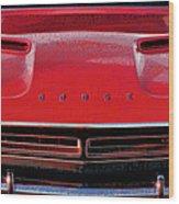 1971 Dodge Challenger - Red Mopar Typography Wood Print