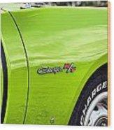 1971 Dodge Charger Rt  Wood Print