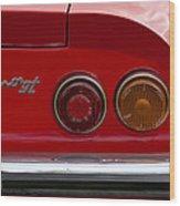 1972 Ferrari Dino 246gt Taillight Emblem Wood Print