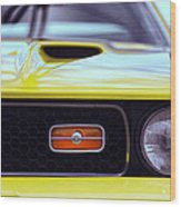 1972 Ford Mustang Mach 1 Wood Print