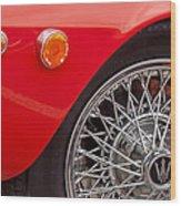 1972 Maserati Ghibli 4.9 Ss Spyder Wheel Wood Print
