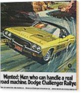 1973 Dodge Challenger Rallye Wood Print