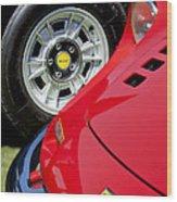 1973 Ferrari 246 Gts Dino Emblem 5 Wood Print