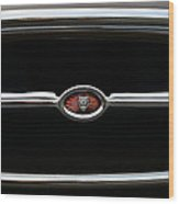1973 Jaguar Type E Emblem Wood Print