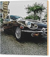 1973 Jaguar Type E Fantasy  Wood Print