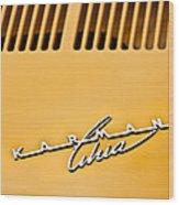1973 Volkswagen Karmann Ghia Convertible Emblem Wood Print