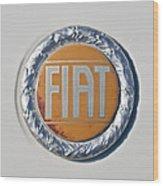 1977 Fiat 124 Spider Emblem Wood Print
