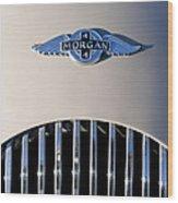 1977 Morgan Plus 4 Hood Emblem Wood Print