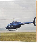 1980 Bell Helicopter Textron Bell 206b Wood Print