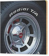 1980 Chevrolet Corvette Wheel Wood Print