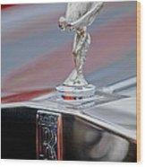 1984 Rolls-royce Silver Spur Hood Ornament Wood Print