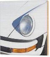 1987 White Porsche 911 Carrera Front Wood Print