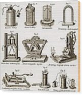 19th Century Electrical Equipment Wood Print