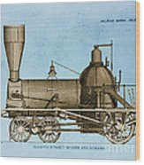 19th Century Locomotive Wood Print